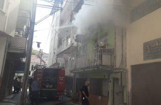 Gemlik'te Suriyelilerin kaldığı bir evde yangın çıktı.